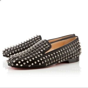 ⚡️LOUBOUTIN ROLLING SPIKE FLATS SUEDE SHOES LOAFER